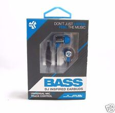 NEW JLab Bass DJ Inspired Earbuds w/mic for Apple/Android GRAY/BLUE