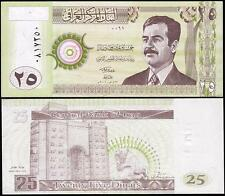 IRAQ 25 DINAR 2001 UNC P.86 BUNDLE UNC PACK OF 50 PCS WITH SADDAM HUSSEIN