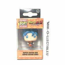 FUNKO POP! POCKET KEYCHAIN DRAGONBALL Z BLUE HAIR SSG SUPER SAIYAN GOKU