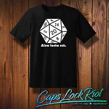 T-Shirt Alea iacta est Fun Geek Nerd Würfel Rollplay D&D Tabeltop Pen&Paper W20
