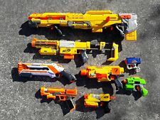 lot 8 Nerf blaster guns Long Shot Recon Rough Cut Barricade StormFire Reflex