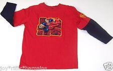 DC Comics Superman Boys Red Long Sleeve Shirt Size 5 6