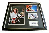 BRIAN MAY HAND SIGNED & FRAMED HUGE PHOTO DISPLAY AUTOGRAPH QUEEN & PROOF & COA