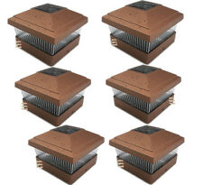 "5""X5"" Copper Outdoor Garden Solar LED Post Cap Fence Square Lights 6-Pack"