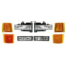 1994 1995 1996 1997 1998 CHEVY C1500 SILVERADO HEADLIGHT + PARK + SIDE LAMP