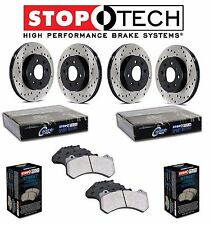 NEW Honda S2000 2000-2009 Front & Rear StopTech Drilled Brake Rotors Street Pads