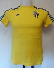 SWEDEN BOYS YELLOW TEE SHIRT BY ADIDAS SIZE BOYS 9-10 YEARS BRAND NEW WITH TAGS