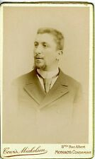 PHOTO CDV MONACO MICHELSEN un homme prend la pose 1890