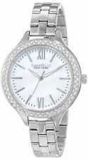 Caravelle New York Women's 43L165 Analog Display Japanese Quartz White Wa... New