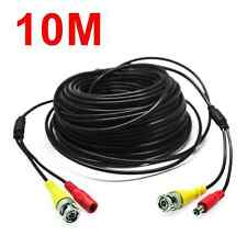 33ft BNC RCA Audio Video Extension Surveillance Cable DVR Wire For CCTV Camera