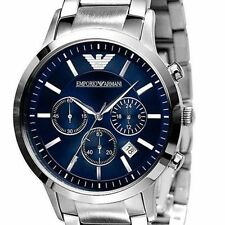 IMPORTED EMPORIO ARMANI AR2448 BLUE CHRONOGRAPH MENS WATCH GIFT 2YR WARANTY