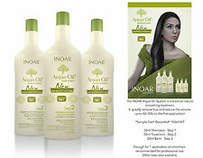 INOAR ARGAN OIL BRAZILIAN KERATIN TREATMENT BLOW DRY HAIR STRAIGHTENING FULL KIT