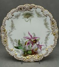 COPELAND HAND PAINTED JEWELED DESSERT PLATE