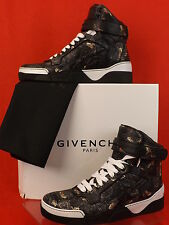 NIB GIVENCHY TYSON BLACK LEATHER MOTH PAISLEY HI TOP SNEAKERS 46 13 $1170