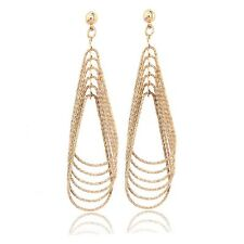 New Arrival 18K Yellow Gold Filled Jewelry Womens Fashion Big Rings Earrings Hot