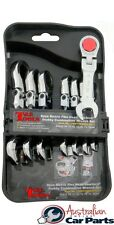 8Pc. Flex-Head Stubby Gear Wrenches (Metric) set T&E tools new S13108