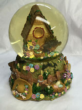 """'EVERYTHING IS BEAUTIFUL ' - Vintage Musical Snow Globe - 5.5"""" High - Birdhouse"""