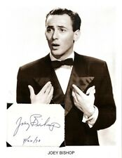Joey Bishop - Autograph w/ Photo Actor Singer Star Rat Pack #2