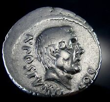 JUNIUS BRUTUS.The Killer of CAESAR.AU* Very rare.Roman Republic Coin.