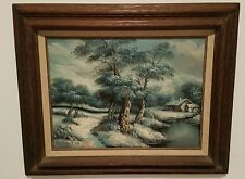 Oil Painting on Canvas Framed Landscape Signed C. Inness 1874-1932