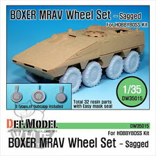 DEF Model 1:35 GTK Boxer MRAV Sagged Wheel Set (For Hobbyboss) DW35015*