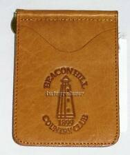 New Men's TICA Leather Billfold Money Clip Wallet BEACON HILLS COUNTY CLUB nwt