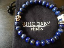 KING BABY STUDIO LAPIS AND SILVER bracelet