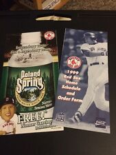 Nomar Garciaparra 1999 Boston Red Sox Home Schedule Ticket Order Poland Springs
