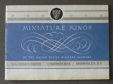 1963 miniature ring brochure for West Point/United States Military Academy