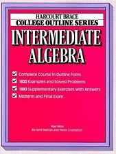 College Outline for Intermediate Algebra (Harcourt Brace Jovanovich College Out
