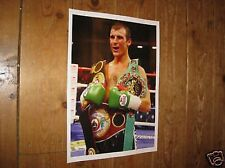 Joe Calzaghe Welsh Boxing Legend Great New Poster Belts