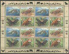 Eule, Schildkröte, Panda, Schmetterling - UNO-Wien - 1 KB ** MNH 1998