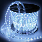 """150' 2 Wire Cool White LED Rope Light In/Outdoor Home 110V Lighting 1/2"""" Party"""