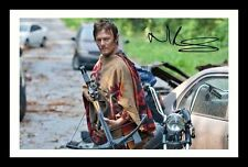 NORMAN REEDUS - THE WALKING DEAD AUTOGRAPHED SIGNED & FRAMED PP POSTER PHOTO