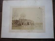 PHOTO 1866 BOIS DE VINCENNES PAR ILDEFONSE ROUSSET GROTTE TEMPLE DIANE
