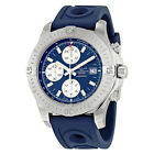 Breitling Colt Chronograph Automatic Blue Dial Blue Rubber Mens Watch