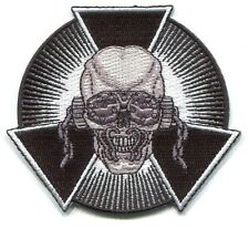 MEGADETH skull biohazard burst EMBROIDERED IRON-ON PATCH **FREE SHIPPING** p4250