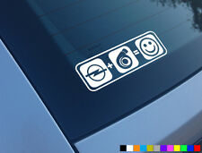 OPEL PLUS BOOST EQUALS SMILES CAR STICKER FUNNY TURBO CORSA ASTRA Z20LET VXR GSI