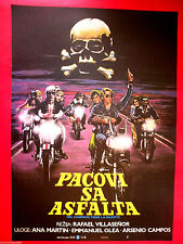 THOUSAND ROADS HAVE DEATH 1977 MEXICO RAFAEL VILLASENOR MOTORCYCLES MOVIE POSTER