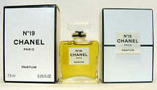 CHANEL No 19 PERFUME 7.5 ML. 0.25 FL.OZ. NEW IN BOX. SEALED BOTTLE