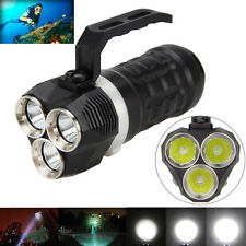 200m Submarino 9000LM 3X XM-L2 LED Scuba Diving Linterna Lámpara Antorcha 18650