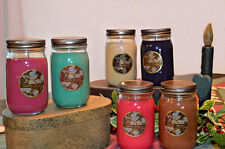6 Highly Scented Soy Candles Mason Jar 16 oz, Hand Poured, You Pick Your Scents!