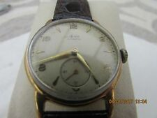 Vintage ***AVIA 1950s 9K SOLID GOLD CASE**** wrist watch