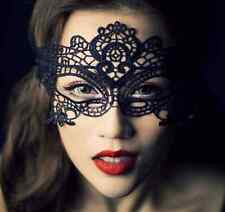 Black Lace Venetian Mask Masquerade Ball Prom Halloween Costume Fancy Dress