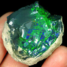 95.4CT 100% Natural New Found Africa Black Opal Facet Rough Specimen YWOg106
