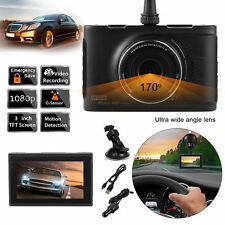"3"" HD LCD 1080P Car DVR Rearview Camera Video Dash Cam Video Recorder G-Sensor"