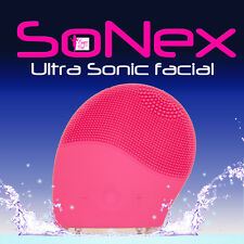 SONEX ULTRA SONIC ELECTRIC SILICONE FACIAL BRUSH CLEANSER CLEANSING EXFOLIATOR P