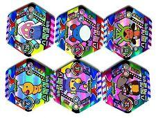 POGS - T-POKE6 003 Lot de 6 Pogs POKEMON Exagonaux Neufs
