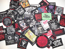 LOTS OF 4 WOVEN/EMBROIDERED DIE-HARD METAL PATCHES, 75 designs (Nuclear War Now)