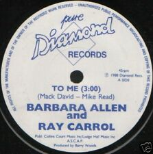 "BARBARA ALLEN AND RAY CARROL to me uk pure d 7"" WS EX/"